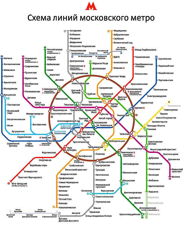 Карта московского
